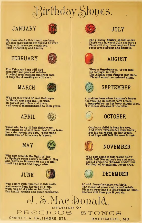Birthstones From Days Gone By Sacred Hands Coven