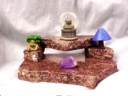 witchcraft, altar, mini altar, target altar for spells