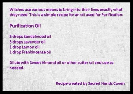 Purification Oil Recipe