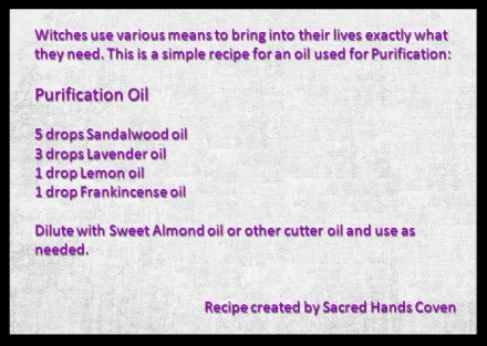 Purification Oil Recipe