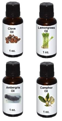 witchcraft, spell oil, essential oil, camphor oil, clove oil, lemongrass oil, ambergrs oil, spellcraft