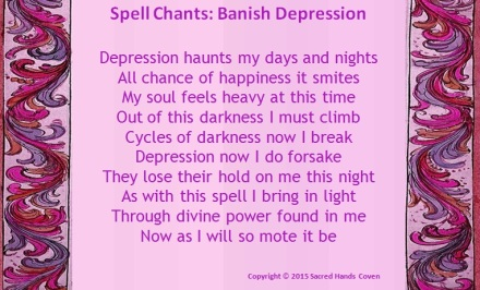 depression, banish depresion, spell, spell chant, magick, witchcraft, witchery