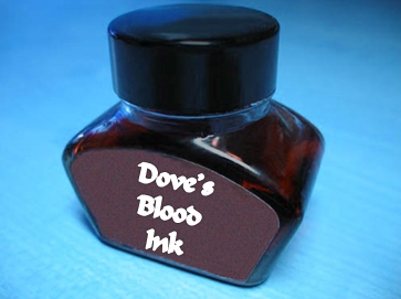 Dove's Blood ink, magickal ink,