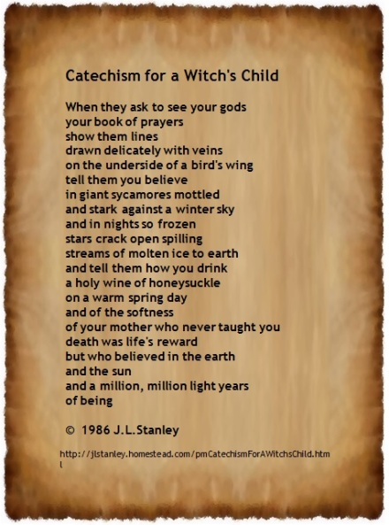 Catechism for a Witch's Child