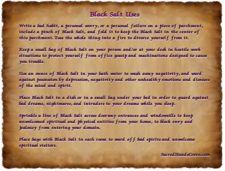 Black salt, black salt uses